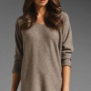 VINCE Cashmere Blend Tunic V-Neck Sweater S